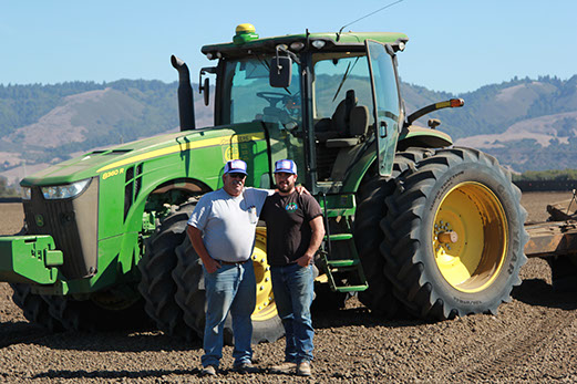 Bobby & his son Chris at a job site in Watsonville, CA